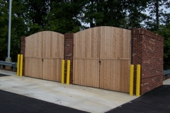 2041_arched wood dumpster gate #2