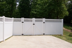 PVC Privacy Fence with Lattice Top #1