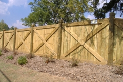 X Style Privacy Fence with Dado Posts #1-min