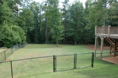 4255_black vinyl chain link fence & double gate