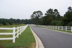 PVC 3-Rail Fence #1