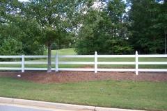 PVC 3-Rail Fence #3