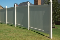 PVC Privacy Fence #1