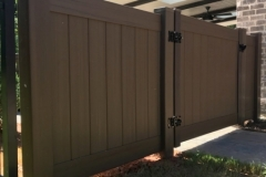 4' Chestnut Brown PVC Privacy