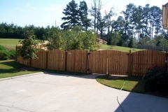 Sawn Arched Privacy Fence with French Gothic Posts #6-min